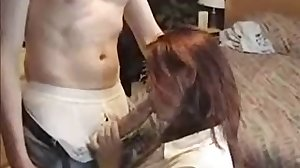 Cougar Sucks Frat Boy's Huge Cock
