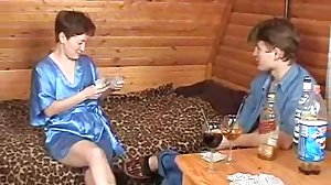 Russian Mature Plays Strip Poker with..