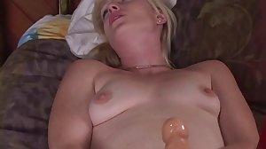 Lucky anal slutboy loves to suck strapon..
