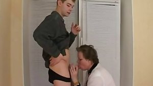 Amateur mature mom and  boy