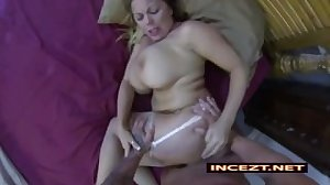 Son fucks his curvy asleep mom in her bed