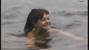 mom and NOT her son fuck on the lake
